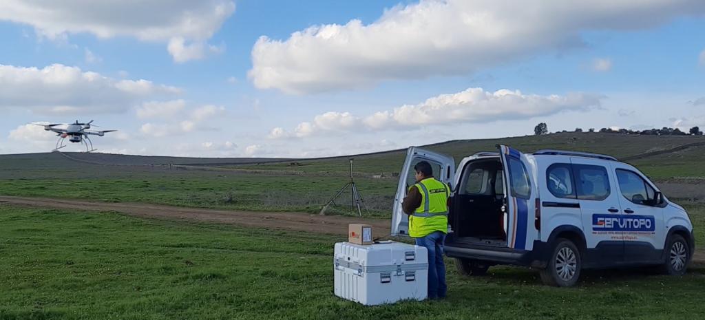 Drohnen-Lidar zur Vermessung eines Solarpark-Bauprojekts in Spanien